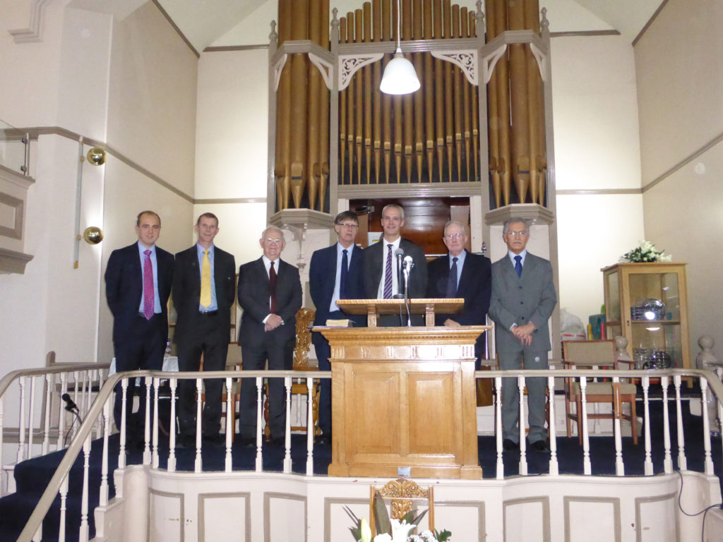 Speakers at the ordination and induction of James Allan as pastor of Hebron