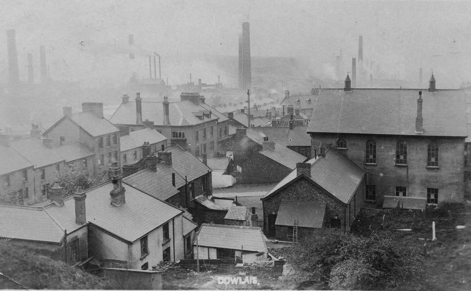 Old view of Hebron and Dowlais