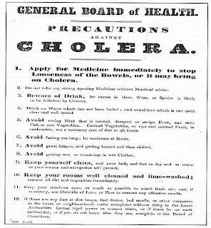 List of cholera precautions